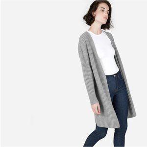 Everlane Ribbed Wool-Cashmere Oversized Cardigan